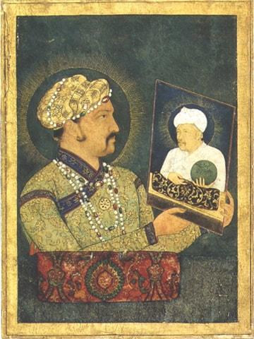Jahangir With Portrait Of Akbar (1614)