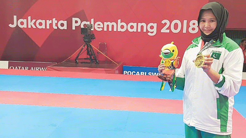 Her bronze medal shining as brightly as gold at the recent Asian Games.