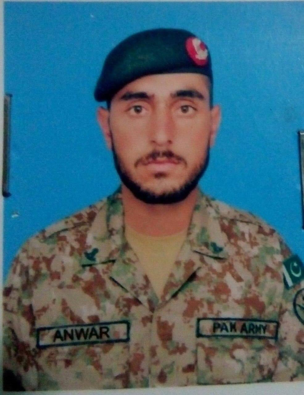 Sepoy Anwar Jan of Gilgit Baltistan's Ghizer district was unmarried.