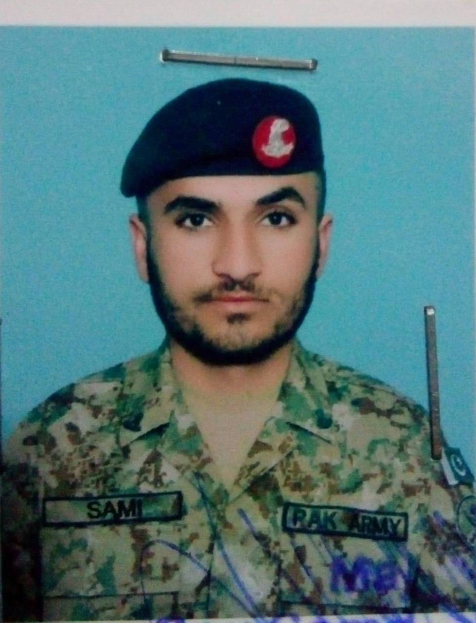 Sepoy Samiullah of GB's Hunza district was unmarried.