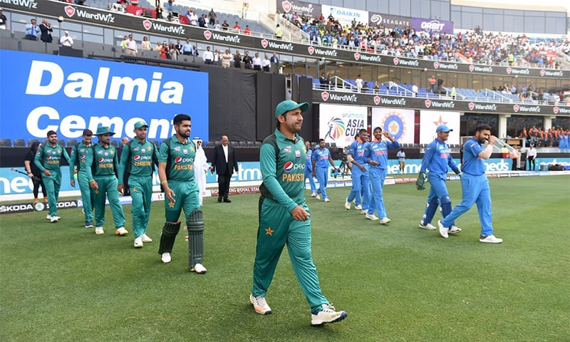 Pakistan and India are up against each other a second time in the Asia Cup. ─ Photo courtesy ICC official Twitter