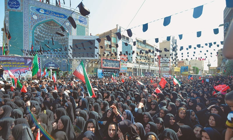 Thousands attend funeral for victims of Iran bombing
