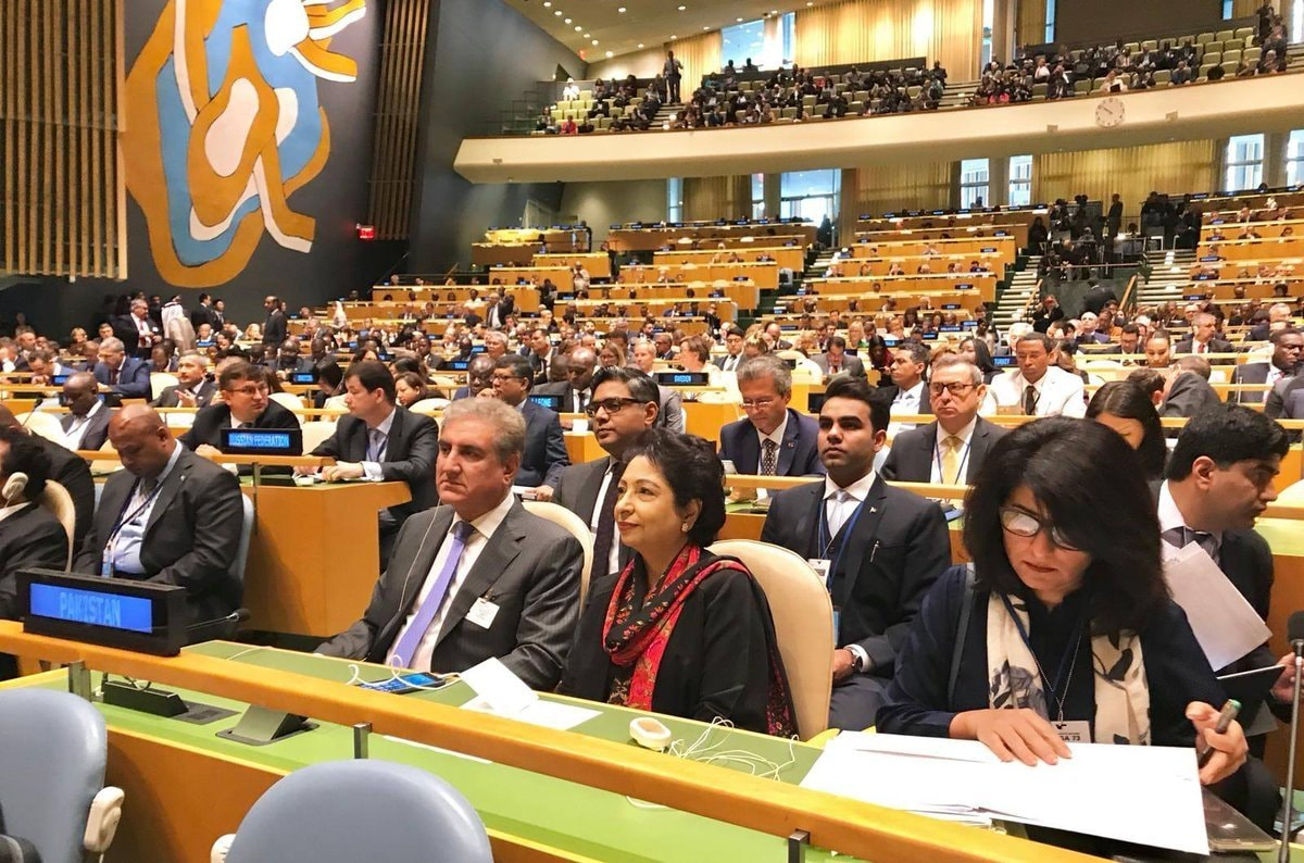 FM Qureshi along with Maleeha Lodhi attends the Nelson Mandela Peace Summit.