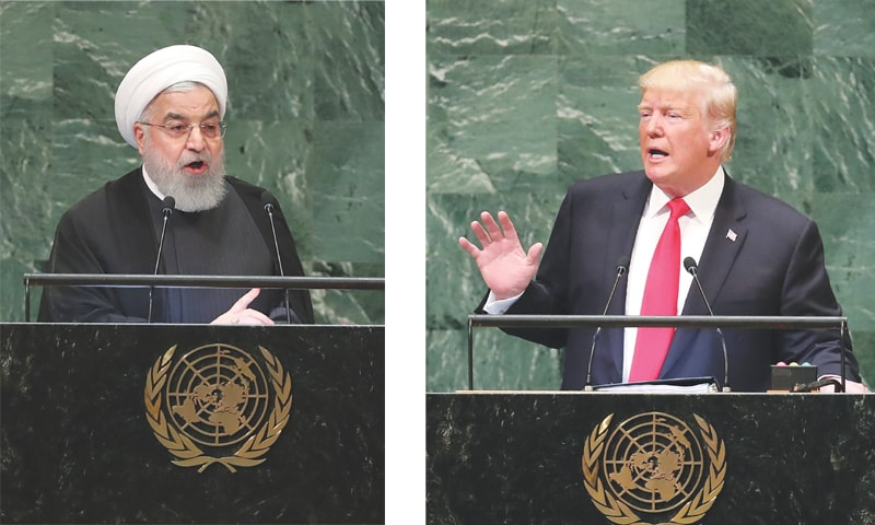 Trump, Rouhani exchange threats, insults at UN