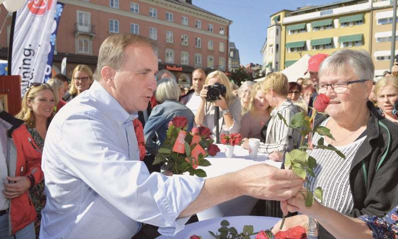 Lofven's departure was widely anticipated. .— AP/File