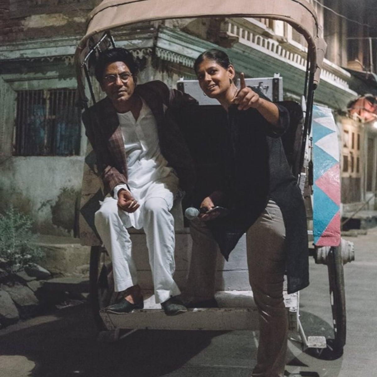 Director Nandita Das with actor Nawazuddin Siddiqui who plays Manto — Photo courtesy Das