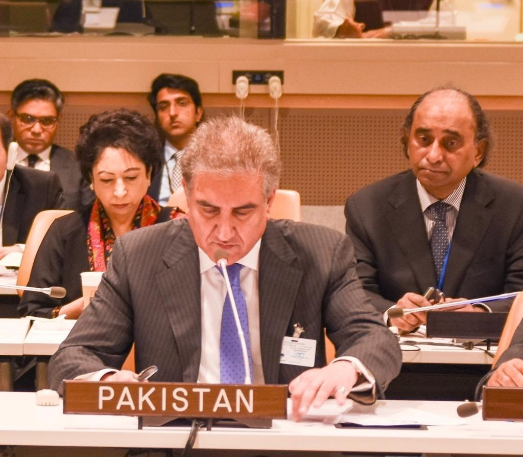FM Qureshi attends a meeting of the OIC Contact Group. — File