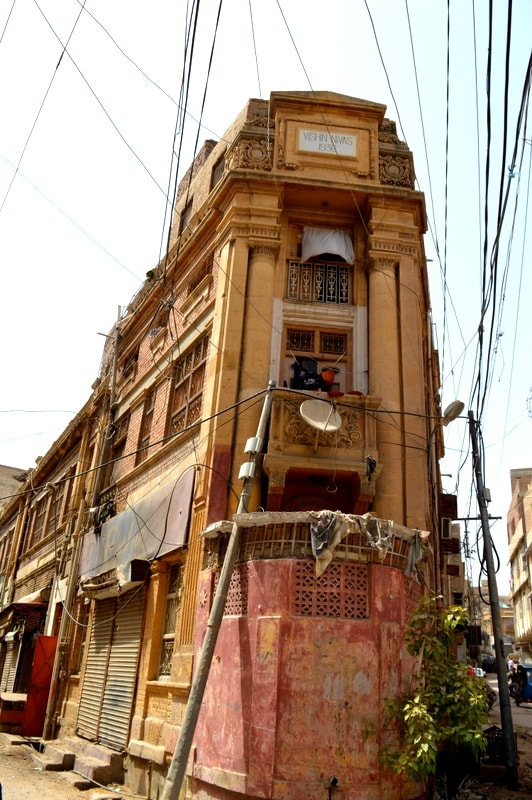 An old building in Hyderabad.
