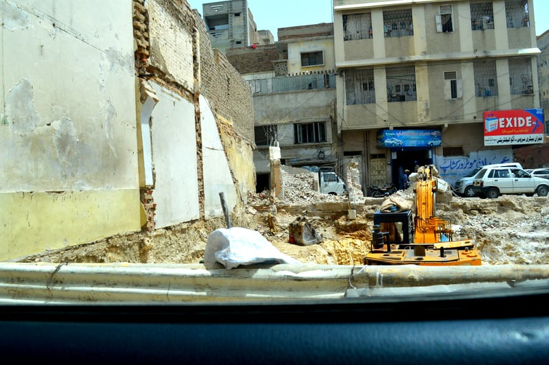 A recently demolished building.