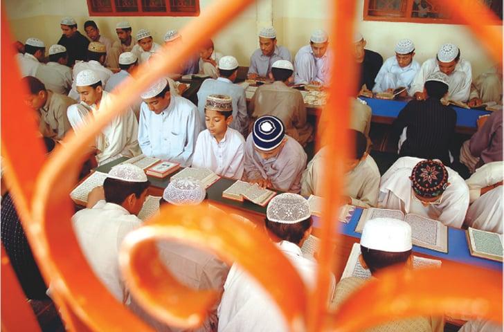 Seminary students hard at work memorising the Holy Quran | Fahim Siddiqui/White Star