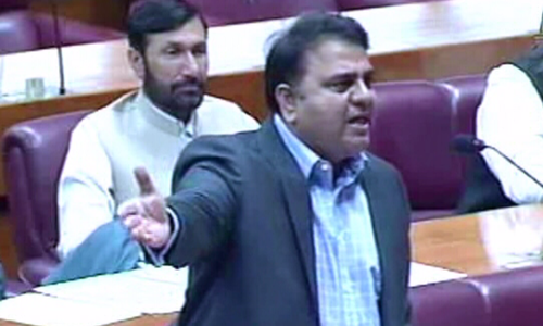 Fawad Chaudhry in the line of fire in Senate after outburst