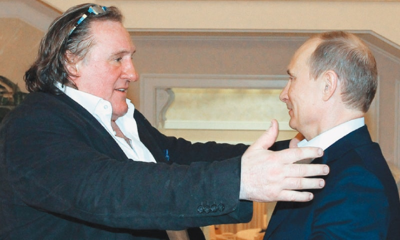 Depardieu with President Putin