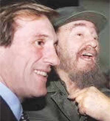 Gérard Depardieu with Fidel Castro