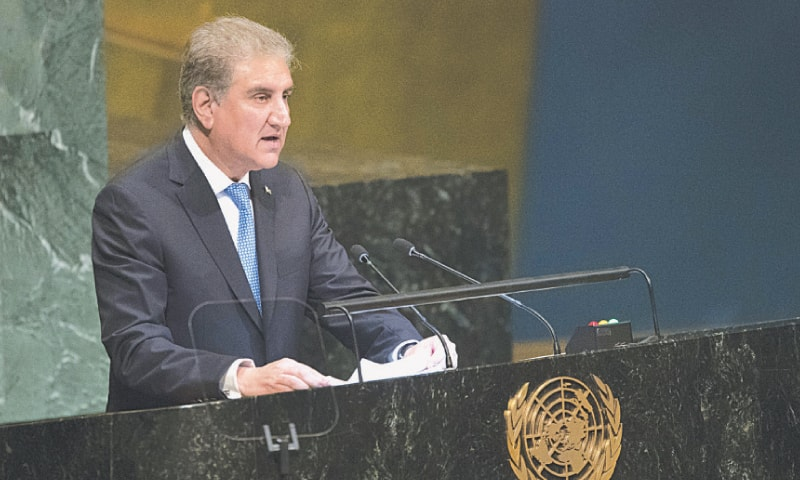 FOREIGN Minister Makhdoom Shah Mehmood Qureshi says Pakistan will support an Afghan-led peace process.—AP