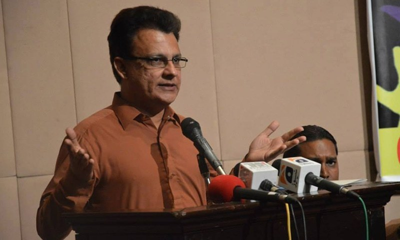Qaumi Awami Tehreek President Ayaz Latif Palijo. ─ Photo courtesy Ayaz Latif Palijo Facebook page