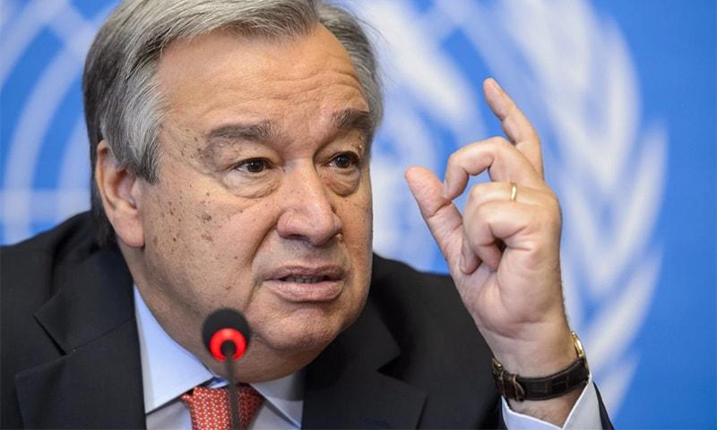 UN chief Antonio Guterres at a UNHCR meeting in Geneva in 2014. ─ AFP/File