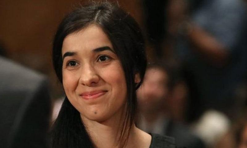نادیہ مراد نے 2015 میں اقوام متحدہ کے اجلاس میں لرزہ خیز داستان سنائی تھی—فائل فوٹو: بی بی سی نیوز