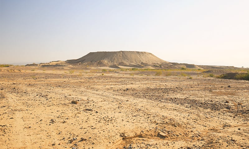 The mound of Shar Ghali as seen from the northwest. Notice its smooth sides resulting from the vandalism | Photos by the writer