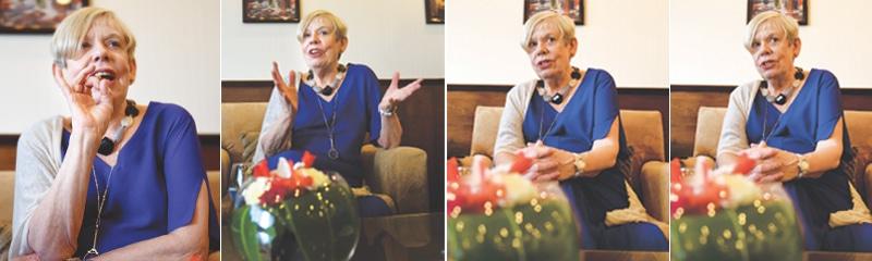Karen Armstrong argues her case | Photos by Tahir Jamal / White Star