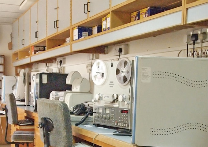 The Digitisation of old records from spools to CDs is carried out at the Central Production Unit (CPU).