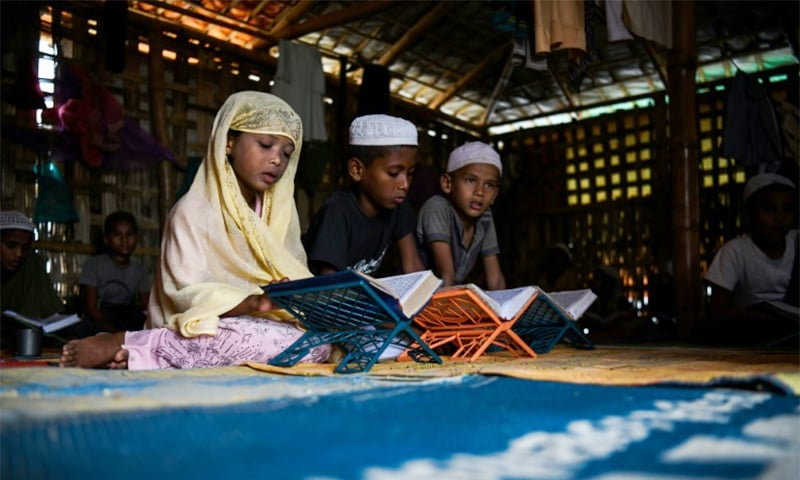 For many children the madrassas are the only places to learn. ─ AFP