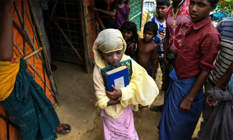 An army purge has forced more than 700,000 Rohingya over the border into Bangladesh ─ most of them children. ─ AFP