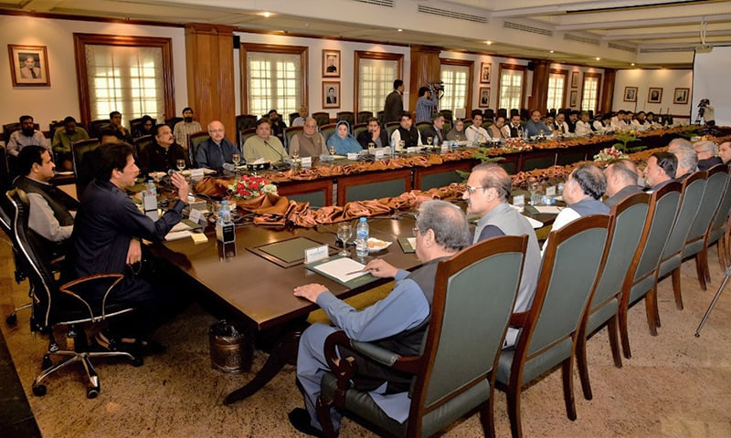 PM Imran Khan chairing the Punjab cabinet meeting. — PTI
