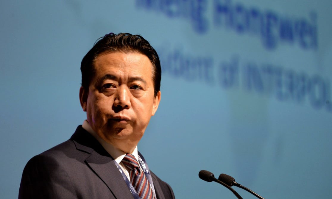 China confirms arrest of Interpol chief, says Meng being probed 'on suspicion of violating law'
