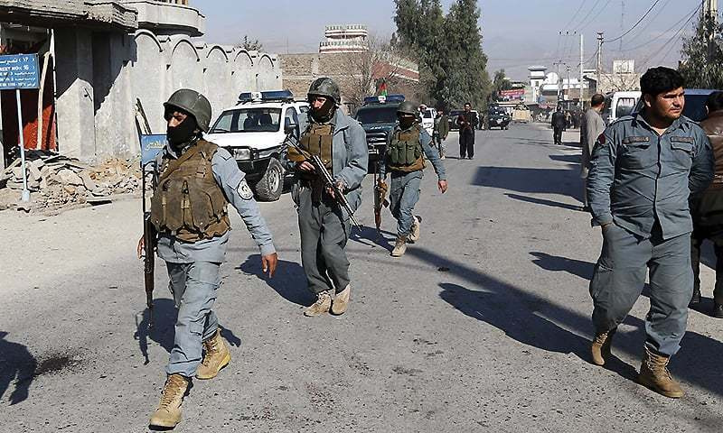 Afghan police arriving at the scene of a crime. —File photo