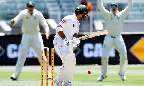 The fourth day of the Test series between Pakistan and Australia finished with Australia at 136-3. — Photo/File