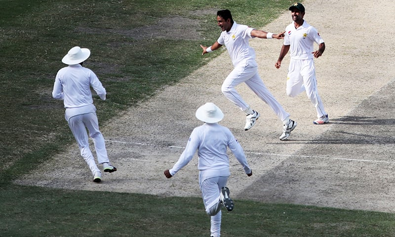 Abbas's triple brings Pakistan closer to win over Australia