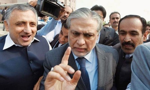 Former finance minister Ishaq Dar. ─ File photo