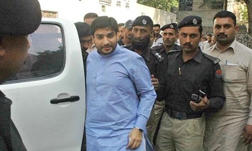 Shahbaz Sharif's son-in-law Imran Ali  Yousaf appearing in court at an earlier hearing. — File