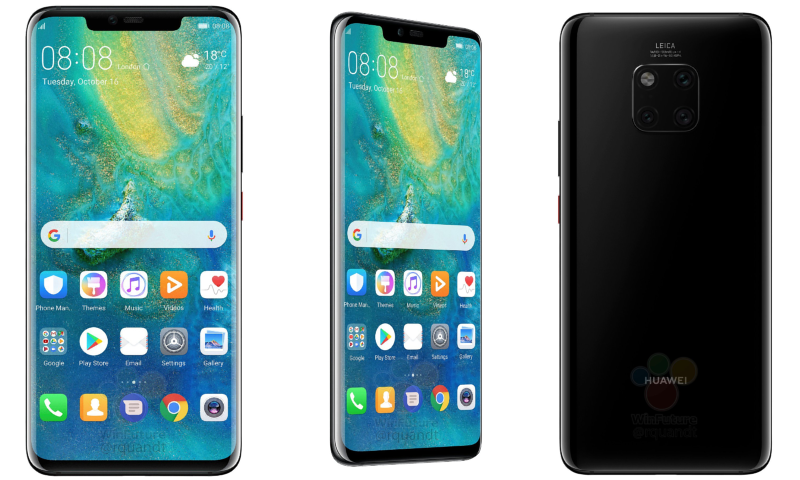 Leaked images of Huawei Mate 20 Pro shared by tech writer Roland Quandt.