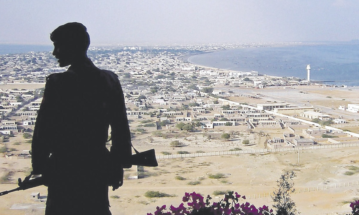 A soldier stands guard in Gwadar | Reuters