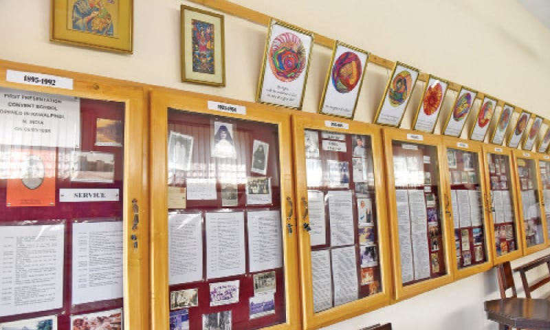 The archives of the Presentation Convent contain old records and photos of former schoolteachers, as well as the dignitaries who have visited the school over the last 123 years.