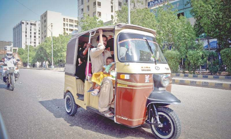 This file photo shows a rickshaw.