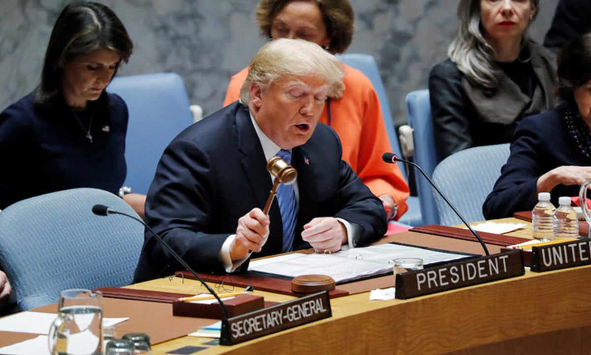 Donald Trump at a UN Security Council meeting | Reuters