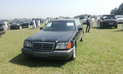 This file photo shows a luxury car which was auctioned off by the PM house last month.