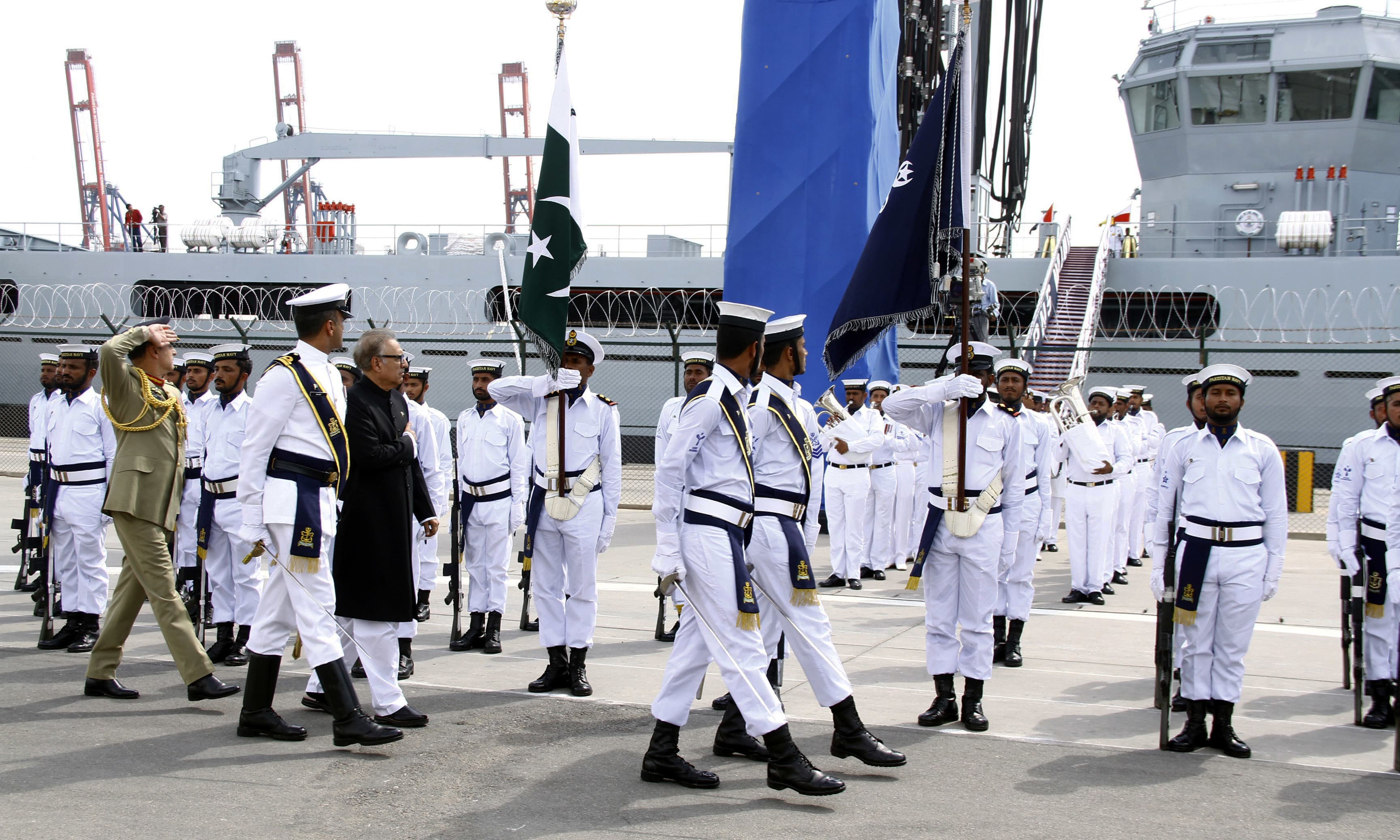 President Alvi says the development of the maritime sector will enhance the country's exports. —Navy PR