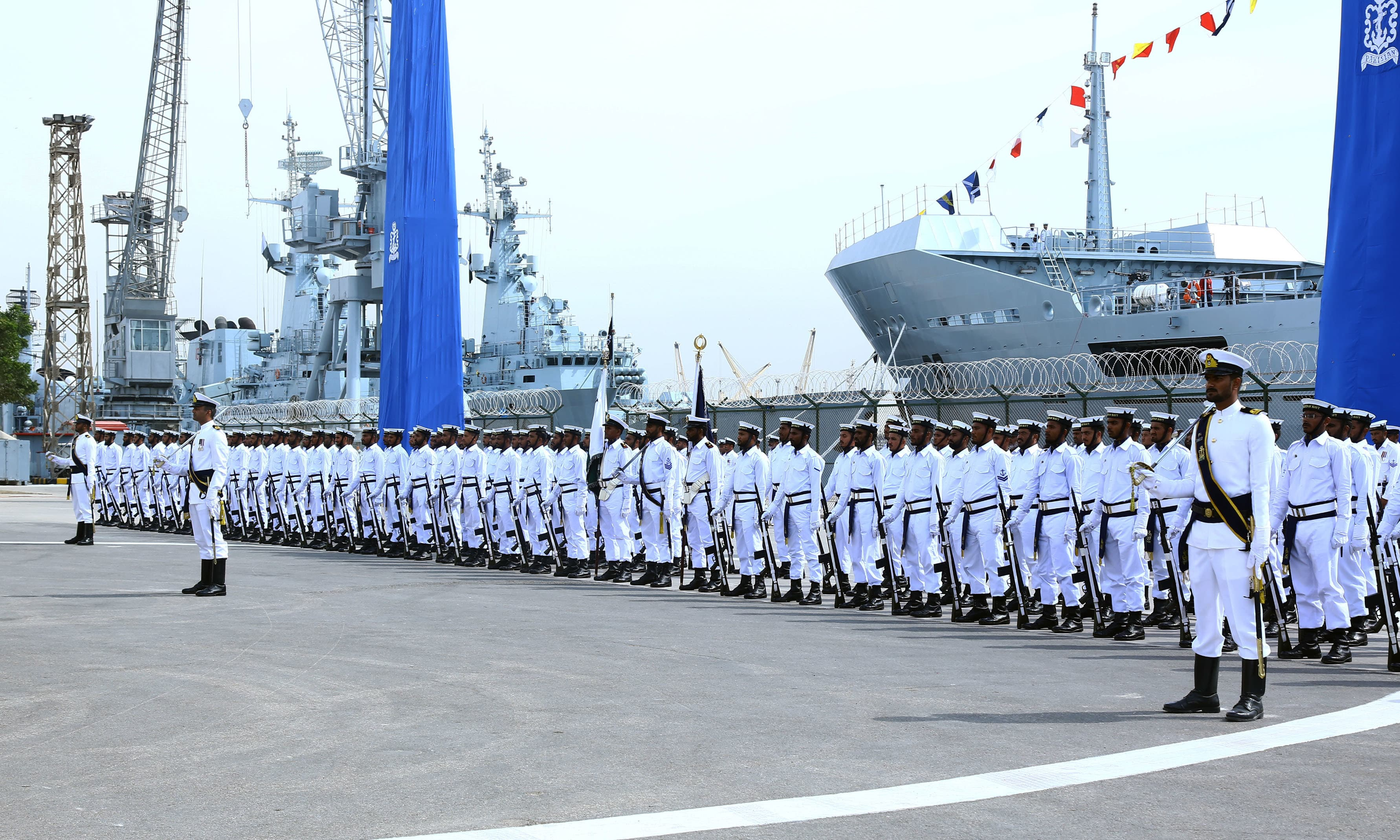 The ship was commissioned during a ceremony held at Pakistan Navy Dockyard in Karachi. —Navy PR