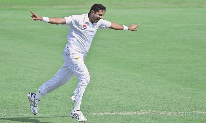 MOHAMMAD Abbas celebrates dismissing Australia's Shaun Marsh. — AP
