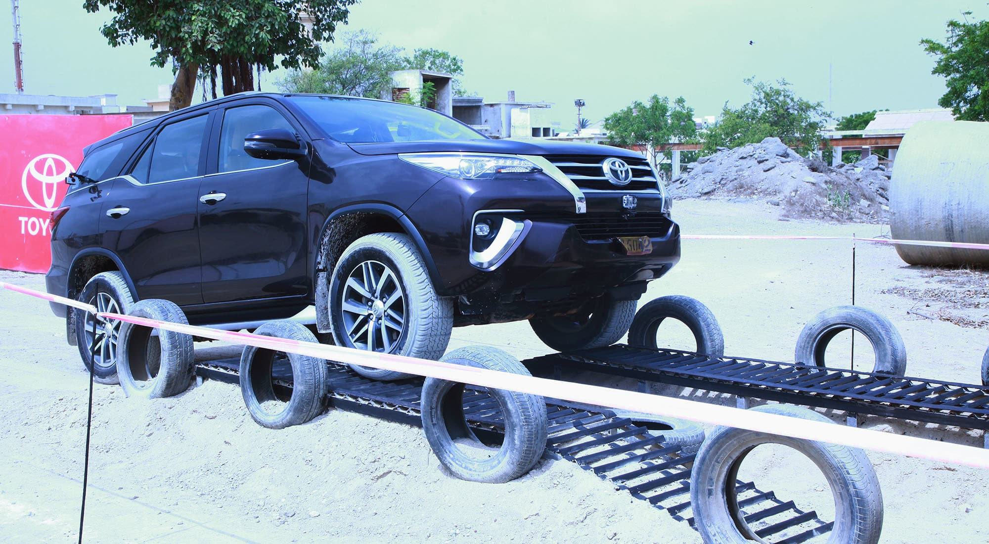 Meet the new Toyota Fortuner Sigma-4 on a thrilling obstacle