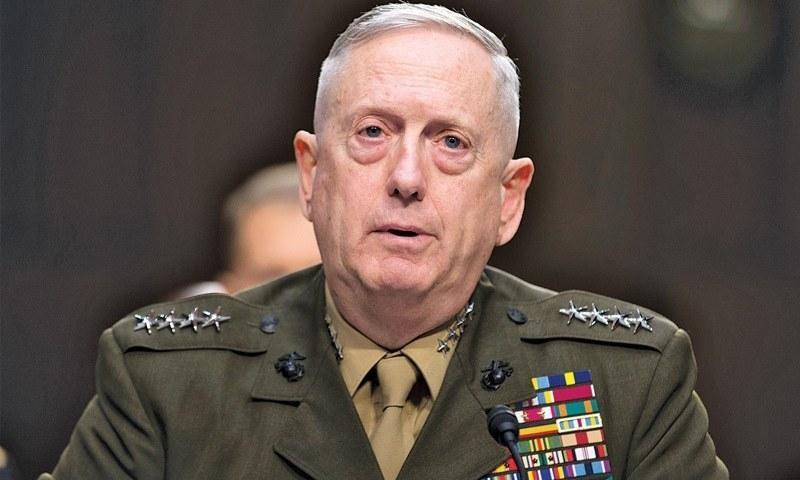 United States Defence Secretary Jim Mattis. — File Photo