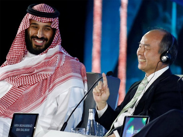 In this file photo, Saudi Crown Prince Mohammed bin Salman and SoftBank Group Chairman and CEOMasayoshi Son are seen at an event. Japanese conglomerate and tech investor SoftBank is under scrutiny over its ties to Saudi Arabia, a major backer of its $100 billion Vision Fund.—Reuters