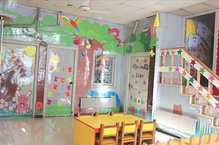 Cheerful surroundings keep children happy