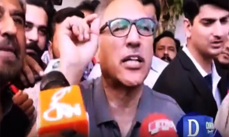 President Arif Alvi talking to media after casting his vote.— DawnNewsTV