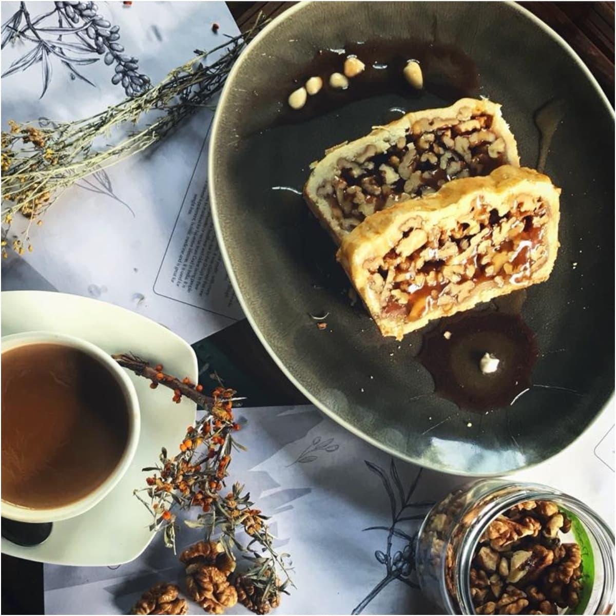 Sea Buckthorn's walnut cake