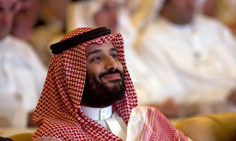In this Oct 23, 2018 photo, Saudi Crown Prince Mohammed bin Salman smiles as he attends the Future Investment Initiative conference in Riyadh. — AP