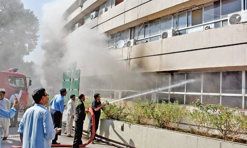 Fire at PID destroys financial records, damages building